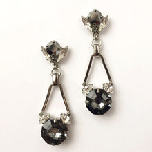 Carica l'immagine nel visualizzatore di Gallery, Silver Night Chrysler Earrings - Heiter Jewellery