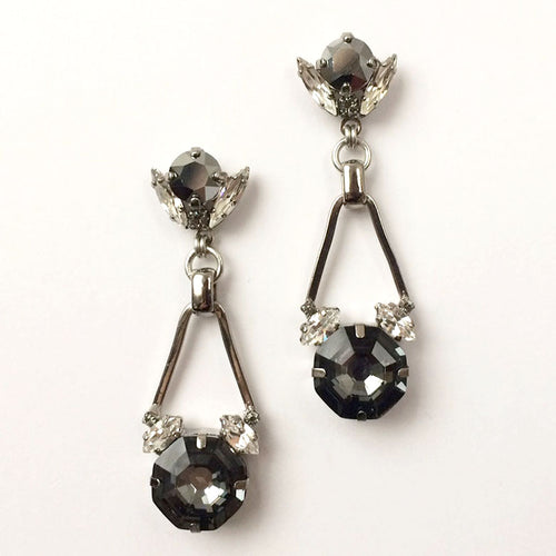 Silver Night Chrysler Earrings - Heiter Jewellery
