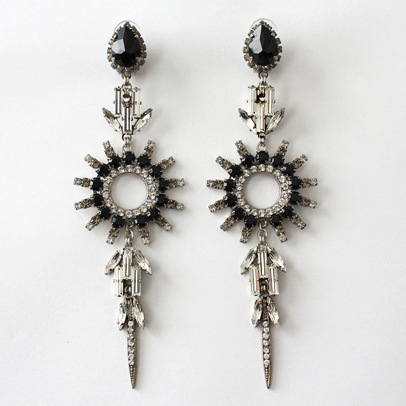 Chrysler Black Earrings - Heiter Jewellery
