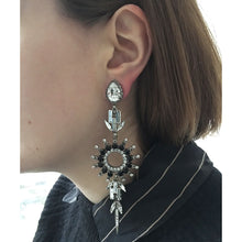 Load image into Gallery viewer, Chrysler Black Earrings - Heiter Jewellery