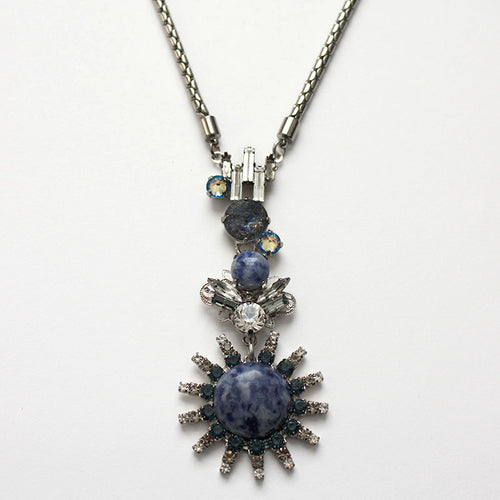 Chrysler Blue Pendant Necklace - Heiter Jewellery