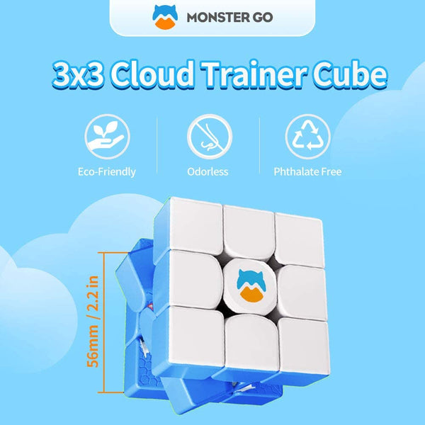 MONSTERGO 3X3 CLOUD BLUE [MAGNETIC]