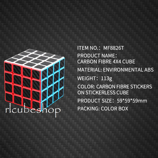 Meilong 4×4 Magnetic Carbon Fiber - rlcubeshop