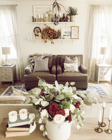 Fresh flowers in a living space
