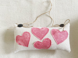 Appliqué Heart Mini Pillow