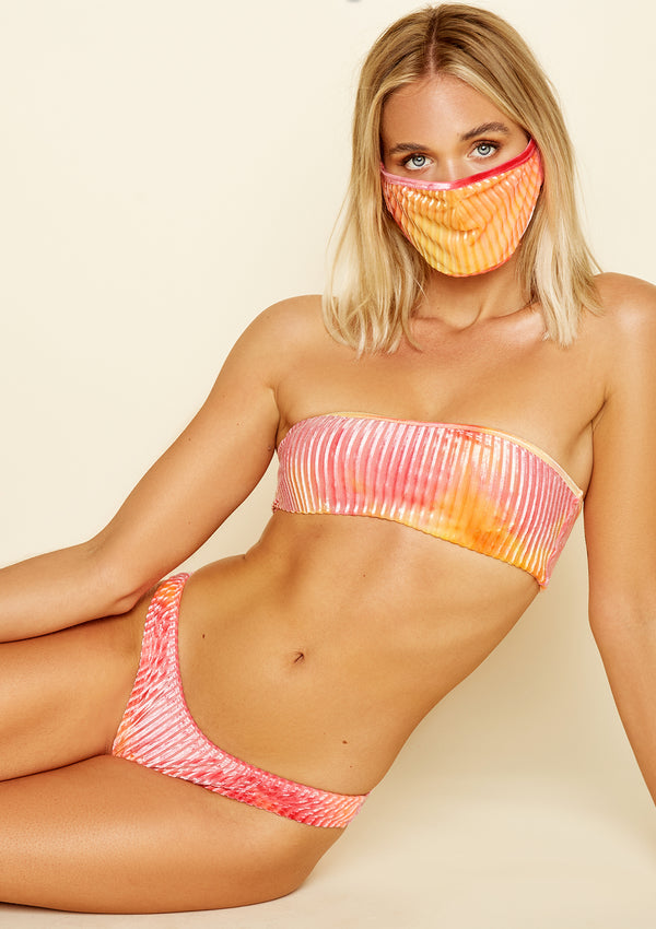 Face Mask Burn Tie-Dye Velour