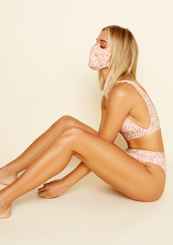 Face Mask Pink Leopard