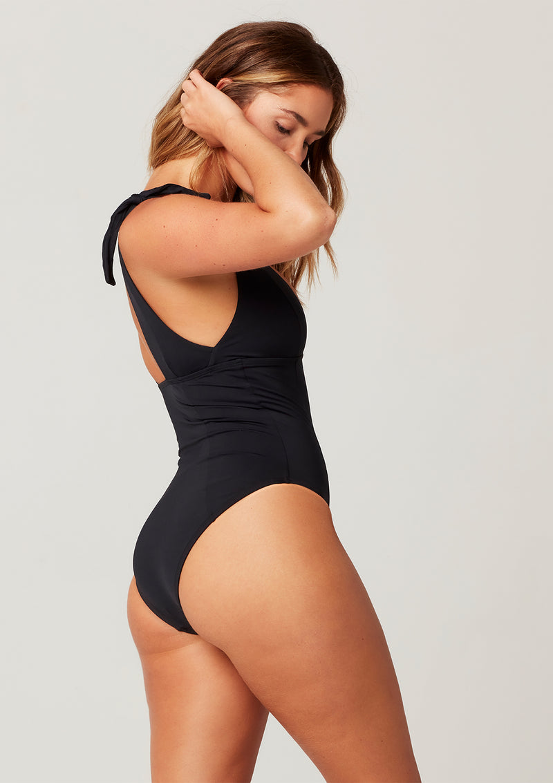 Sensual Solid Isabelle One Piece