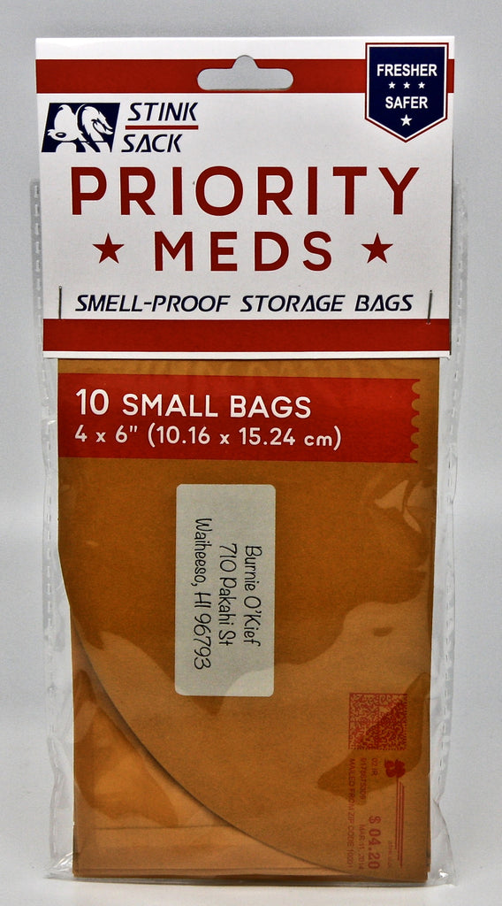 Stink Sack Priority Meds 10pk Smell Proof Bags