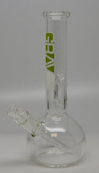 "Grav Labs 32R 8"" Round Water Pipe with Fixed Downstem Clear - Sublime Vapor"