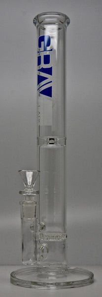 "Grav Labs 38D.0 12"" Flare Stemless Water Pipe with Honey Comb Disc Clear"