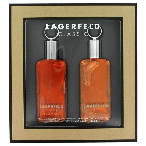 LAGERFELD by Karl Lagerfeld Gift Set -- 2 oz Eau De Toilette Spray + 2 oz After Shave for Men - ParaFragrance