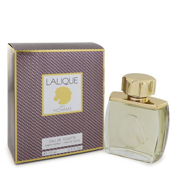 LALIQUE by Lalique Eau De Toilette Spray (Horse Head) 2.5 oz for Men