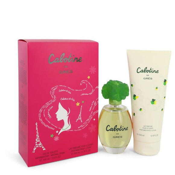CABOTINE by Parfums Gres Gift Set -- 3.4 oz Eau De Toilette Spray + 6.7 oz Body Lotion for Women