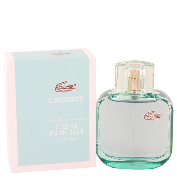 Lacoste Eau De Lacoste L.12.12 Natural by Lacoste Eau De Toilette Spray 3 oz for Women