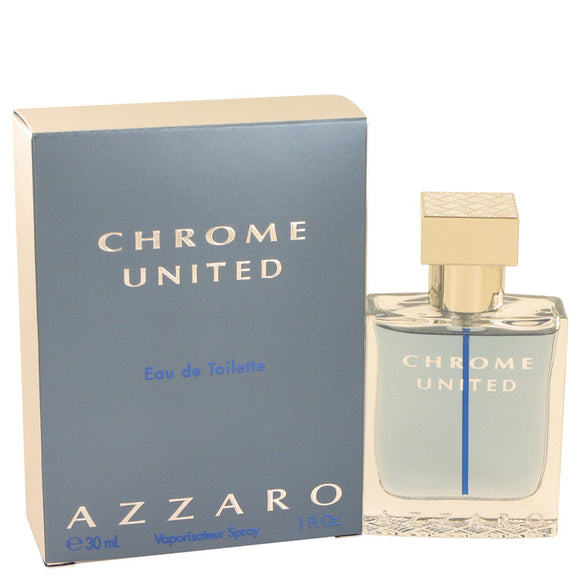 Chrome United by Azzaro Eau De Toilette Spray 1 oz for Men