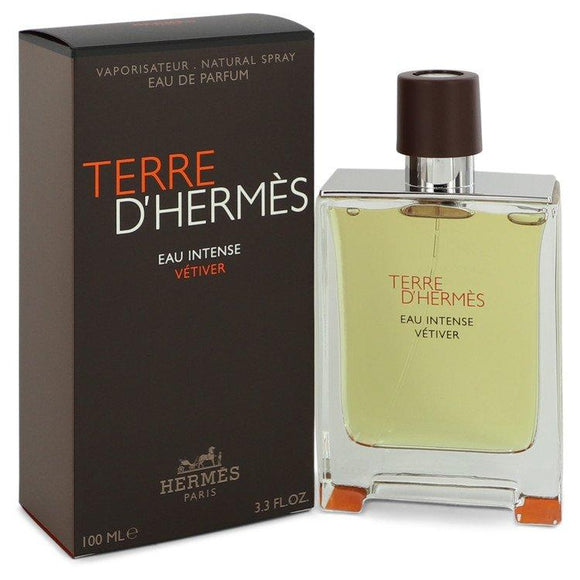 Terre D'hermes Eau Intense Vetiver by Hermes Eau De Parfum Spray 3.3 oz for Men