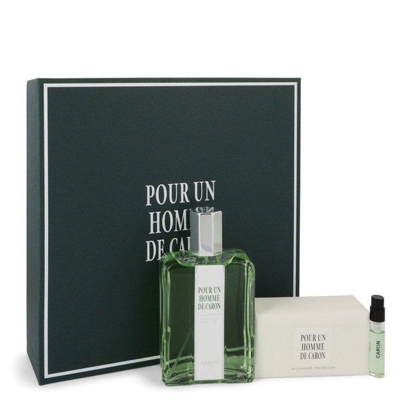 CARON Pour Homme by Caron Gift Set -- 4.2 oz Eau De Toilette Spray + 3.3 oz Soap + .06 oz Vial (sample) for Men - ParaFragrance