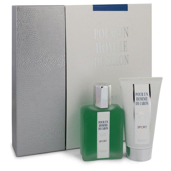 Caron Pour Homme Sport by Caron Gift Set -- 2.5 oz Eau DE Toilette Spray + 2.5 oz Shower Gel for Men - ParaFragrance