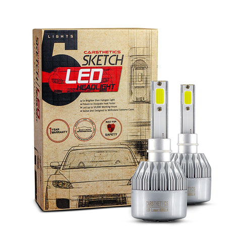 Carsthetics Sketch LED Headlight Breeze - H1 Single Color Low Beam