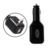 Lycas 2-in-1 12V and 220V Portable Car Charger (Black)