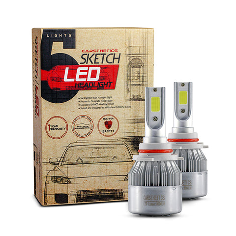 Carsthetics Sketch LED Headlight Breeze - 9006 Single Color Low Beam