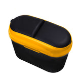 Car Garbage Trash Bin Automotive Waste Storage (Yellow)