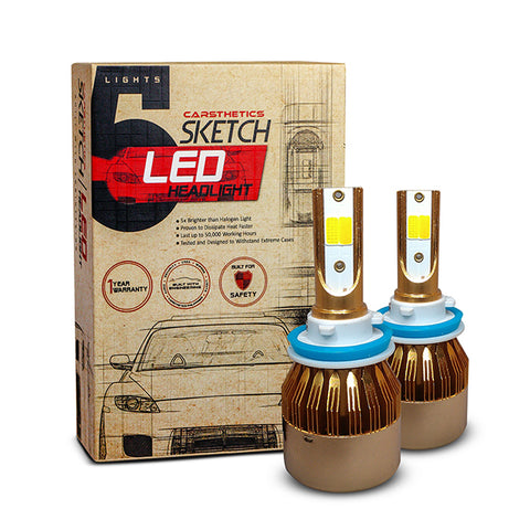 Carsthetics Sketch LED Headlight Hue - H11 Dual Color