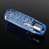 Bubble Shift Knob Stick Crystal Transparent Throw Gear Shifter 15cm (Blue)