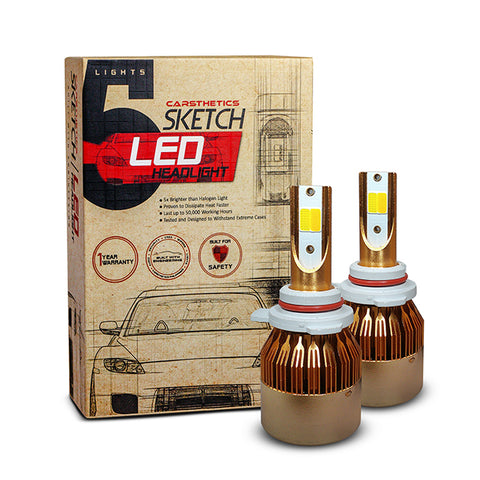 Carsthetics Sketch LED Headlight Hue - 9012 Dual Color