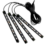 Acoustic Lamp 9x4 LED Interior Lights with Music Control + Wireless Remote Control with Sound Active Function