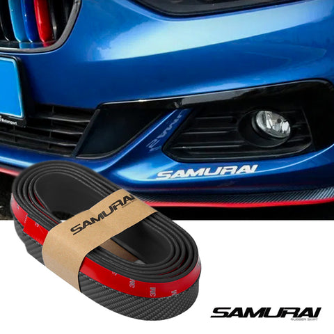 Samurai Rubber Skirt Racing Lip Carbon (Black)