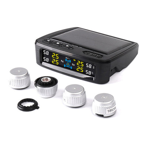 SPY Tire Pressure Monitoring System (TPMS) with Solar Power and USB Charging