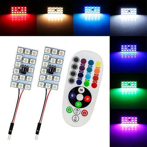 15 LED RGB Domelight with Remote Control
