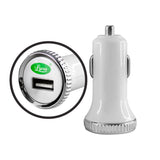 Lycas Basic Portable Car Charger (White)