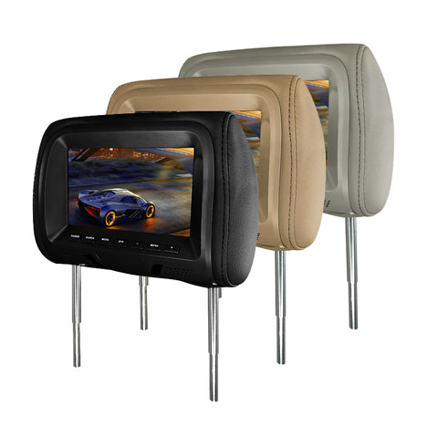 "7"" HD LCD Headrest Monitor with Earphone"