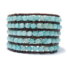 Load image into Gallery viewer, Peruvian Blue Opal - Cuff Bracelet