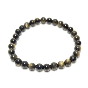 Gold Sheen Obsidian 6mm