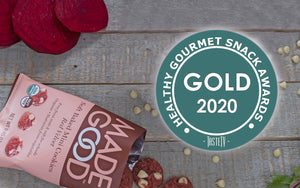 MadeGood Red Velvet Cookies win Gold at Tasty Awards 2020