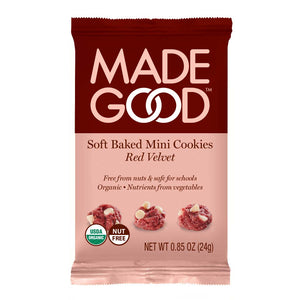Red Velvet Soft Baked Mini Cookies