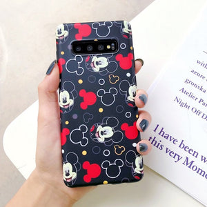 Silk scarf Lanyard Cartoon Minnie Mickey Case for Samsung