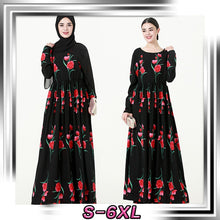Load image into Gallery viewer, big-name rose print robe Malay