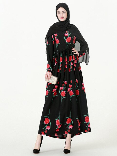big-name rose print robe Malay