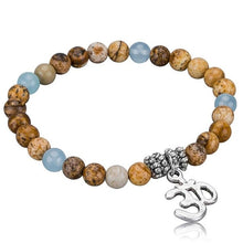 Load image into Gallery viewer, Evil Eye Charm Bracelets with Stones