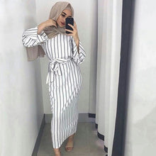 Load image into Gallery viewer, Muslim Stripe Long Maxi Hijab