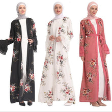 Load image into Gallery viewer, Front open abaya Muslims Malay dresses