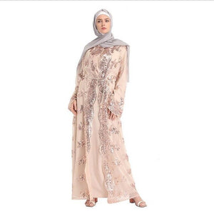 Front open abaya Muslims Malay dresses