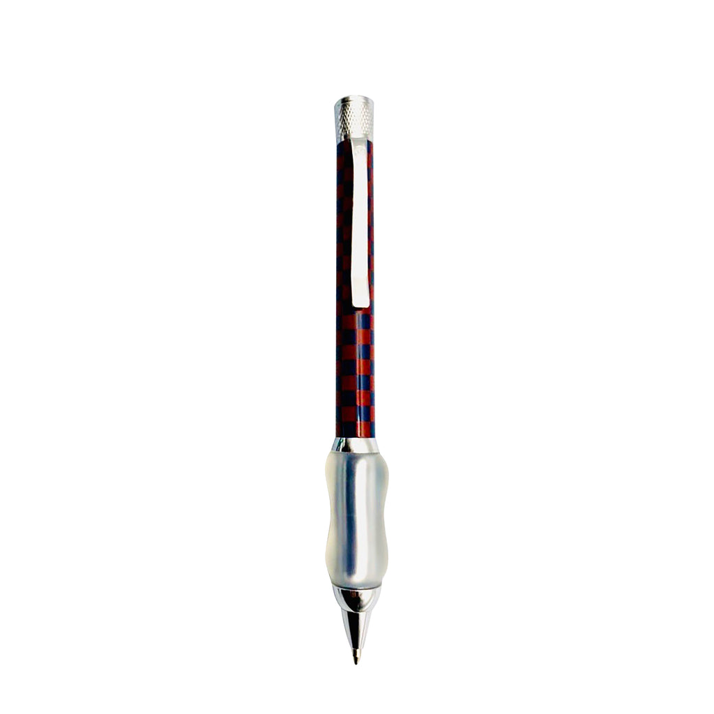Crimson Red and Navy Blue | Checkers Collection | Ball Point