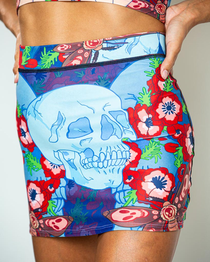 Death Head Mini Skirt
