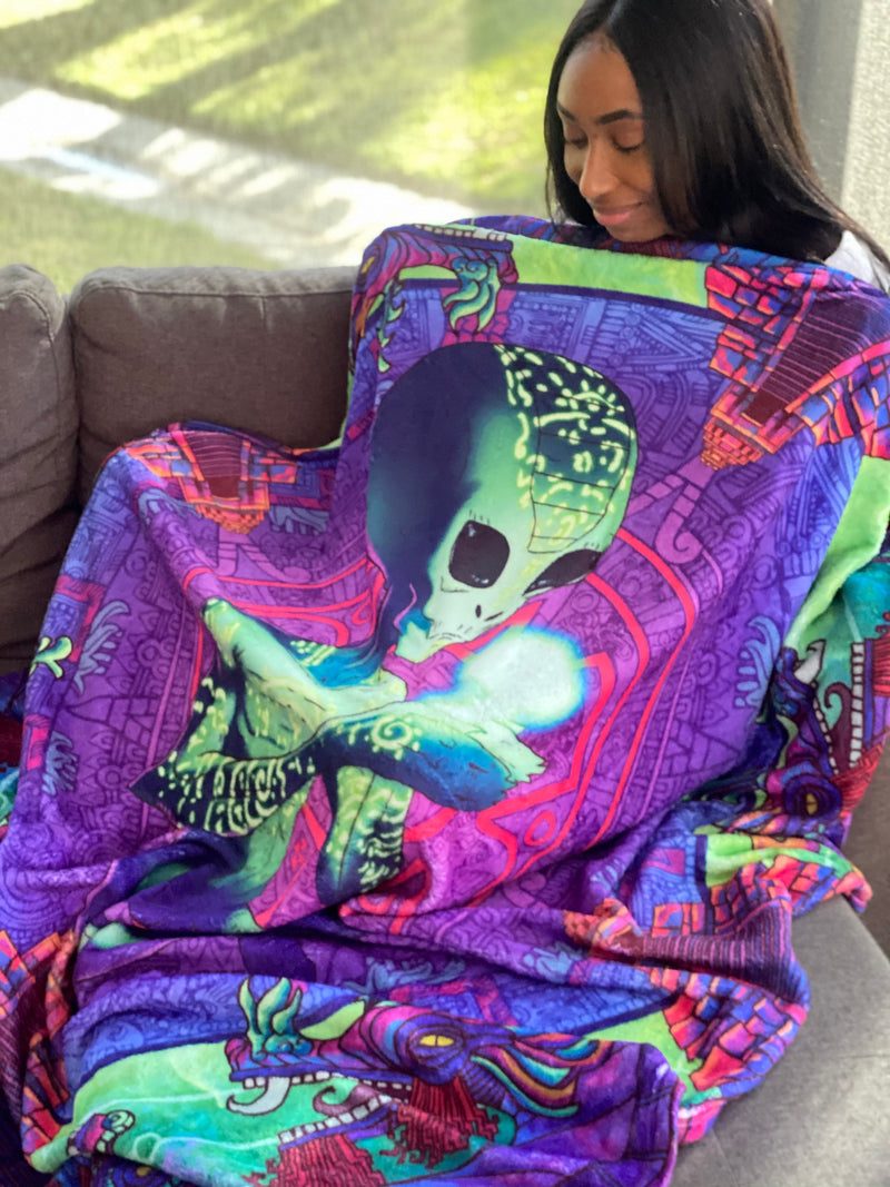 Double Sided Extraterrestrial Mycologist Blanket